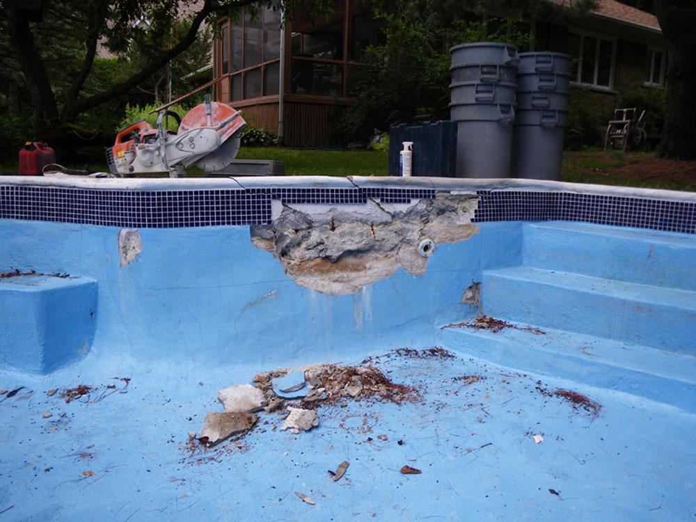 Rnovation bton de piscine m vermette for Reparation fissure piscine beton