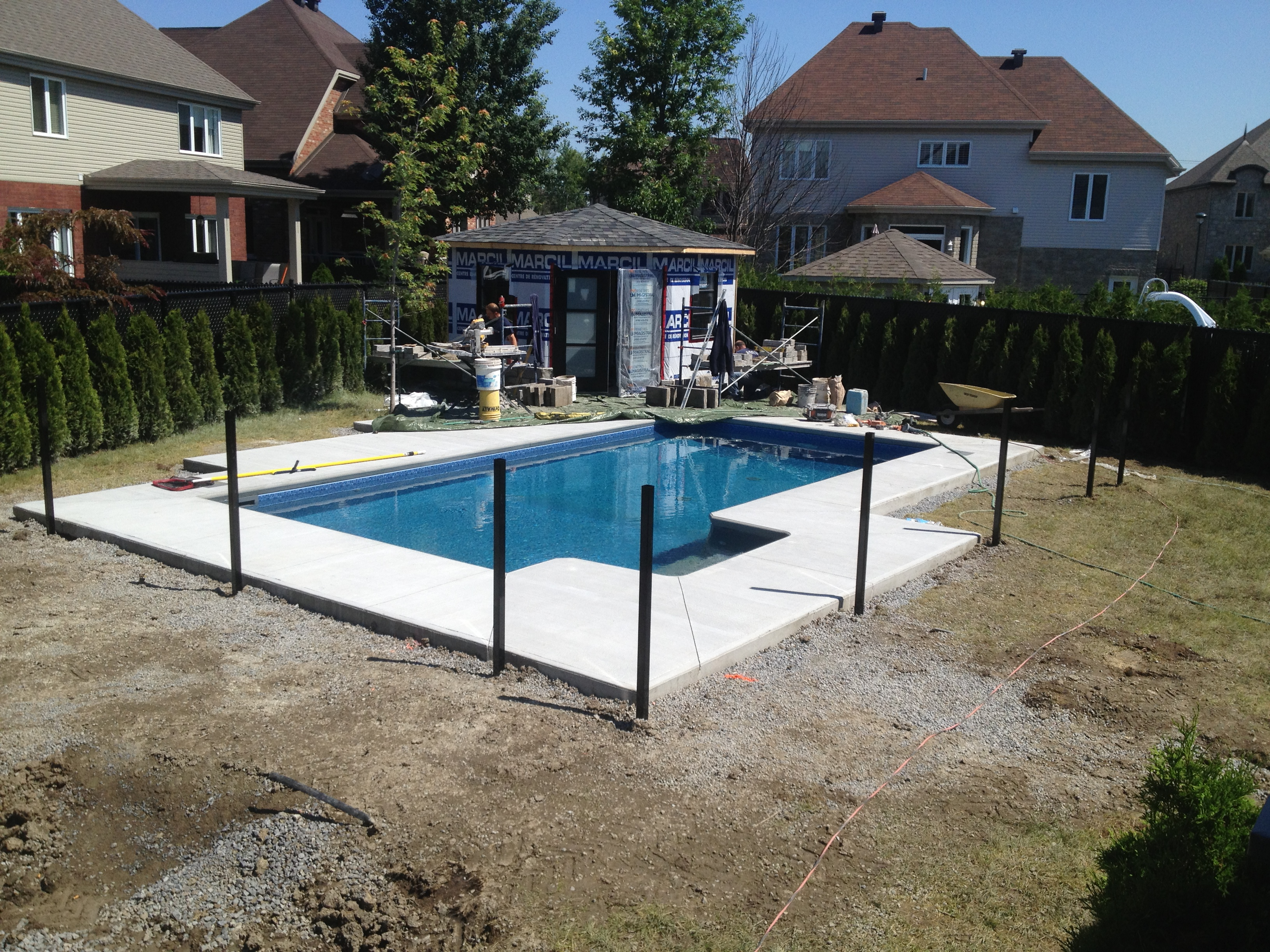 Installation piscine creuse desgagn for Projet piscine