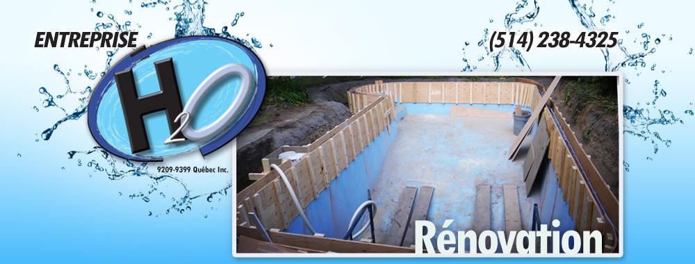 R novations de piscine creus e entreprise h2o for Equipement piscine beton